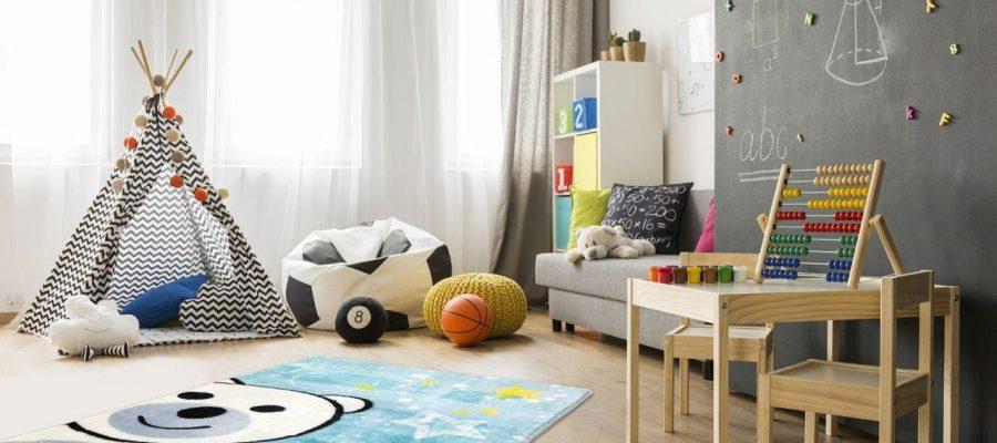 Dywan pełen barw w pokoju dziecka